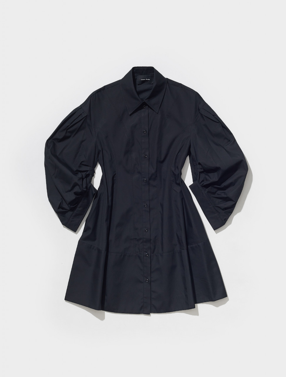 5066_0109 SIMONE ROCHA SIGNATURE SLEEVE SCULPTED SHIRT DRESS IN BLACK