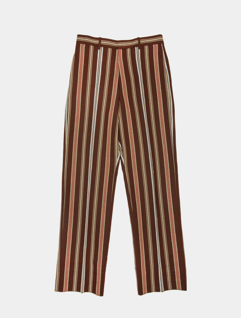 Striped Wide Linen Trousers