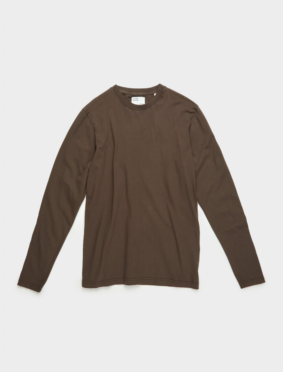 307-CS1002-CB COLORFUL STANDARD CLASSIC ORGANIC LS TEE COFFEE BROWN