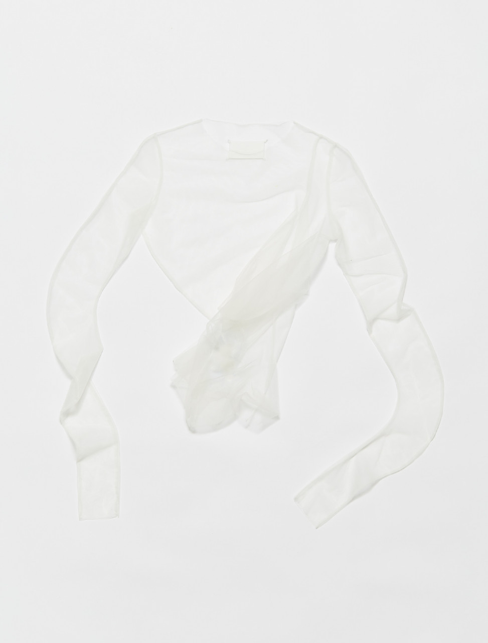 S29NC0516-S53887-102 MAISON MARGIELA TOP IN IVORY