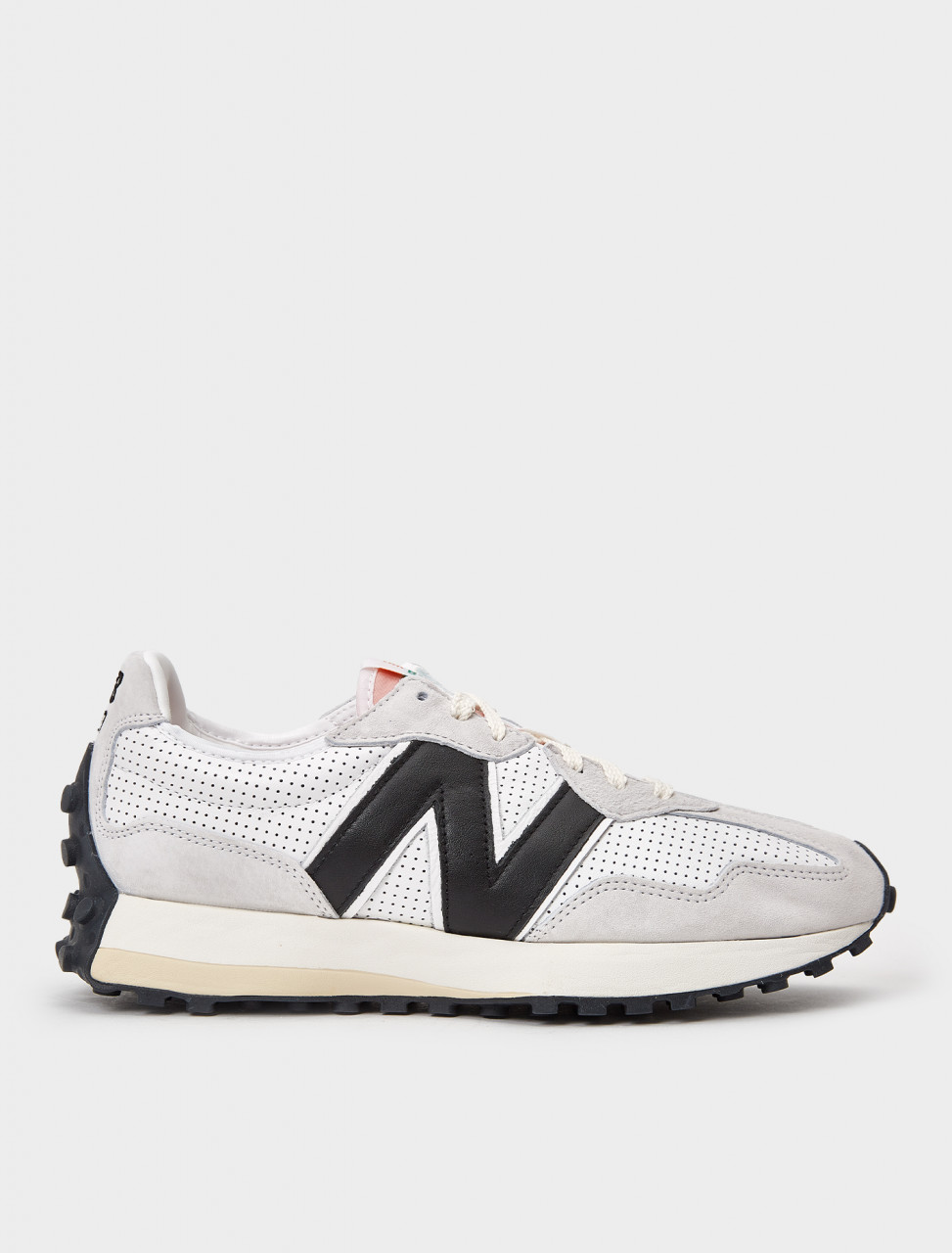 832841-60 NEW BALANCE 327 CASABLANCA WHITE GREY BLACK