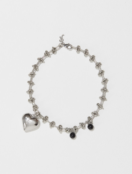 212 985 65002 0082 RAF SIMONS KNOT CHARM NECKLACE IN SILVER