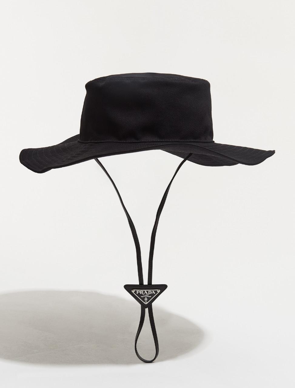 2HC250_2DXI_F0002 PRADA DRILL HAT IN BLACK