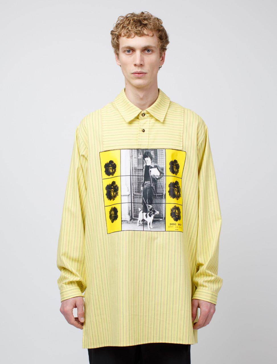 x Gilbert & George Printed Overdyed Tunic Shirt