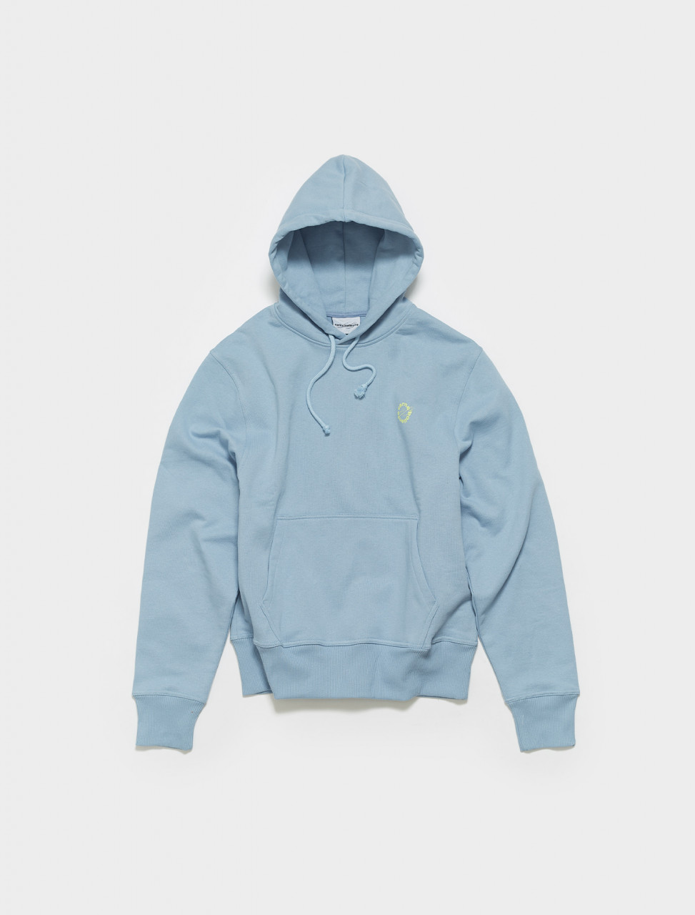 SS21SW03 CARNE BOLLENTE ANGRY FOR MORE HOODIE IN WASHED BLUE