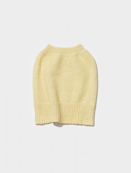 PKN018_101 PALOMA WOOL SAM KNITTED SKIRT IN PASTEL YELLOW