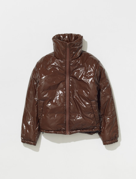 C90066 ADO FA UX OUTW000051 ACNE STUDIOS OGGY GLOSS FACE JACKET IN CHESTNUT BROWN