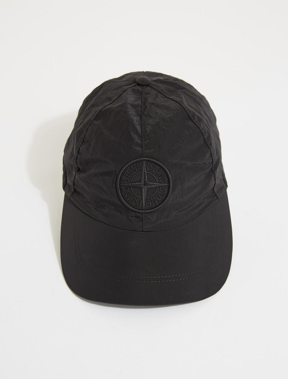 MO741599576-V0029 STONE ISLAND CAP BLACK