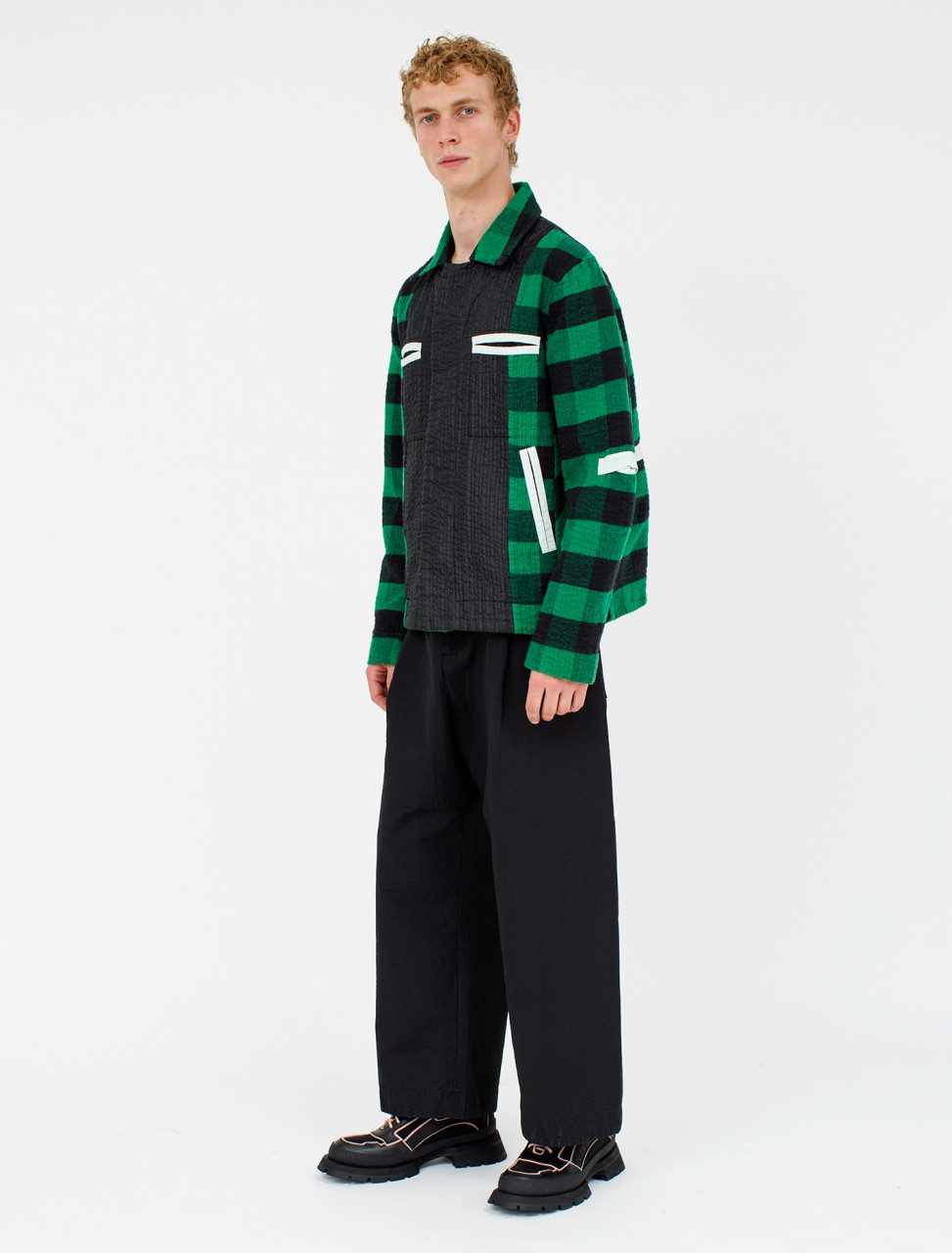 Line Stitch Worker Trouser