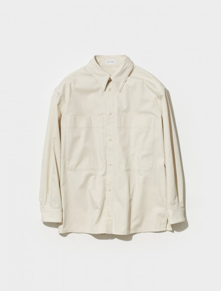 M 213 TO128 LF641 222 LEMAIRE BLOUSE SHIRT TOP IN ALMOND MILK