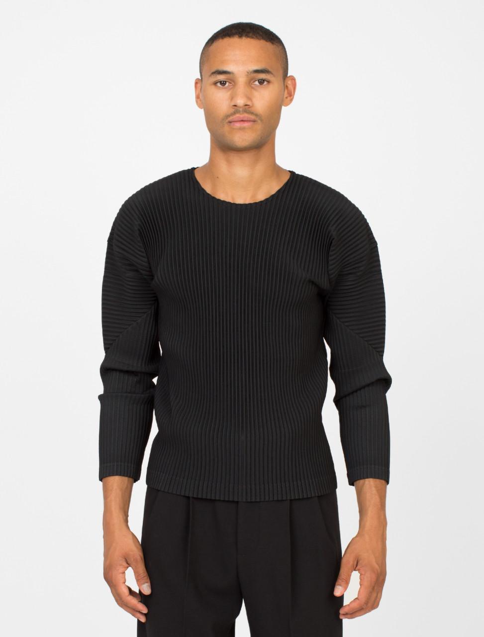 Pleated Longsleeve T-Shirt
