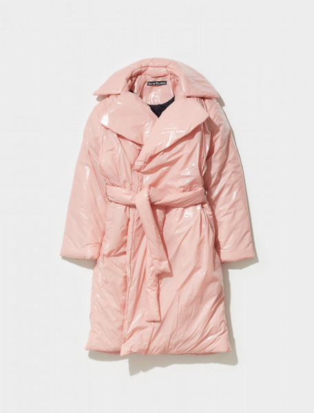 C90073 AD1 FA UX OUTW000054 ACNE STUDIOS ORWELLO GLOSS FACE TRENCHCOAT IN BLUSH PINK