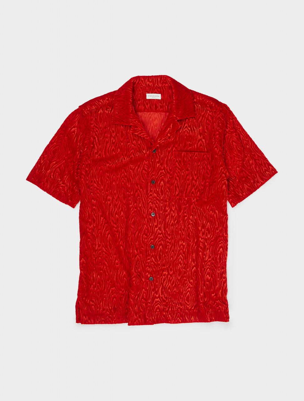 260-202-20718-1254-352 DRIES VAN NOTEN CARLTONE SHIRT RED